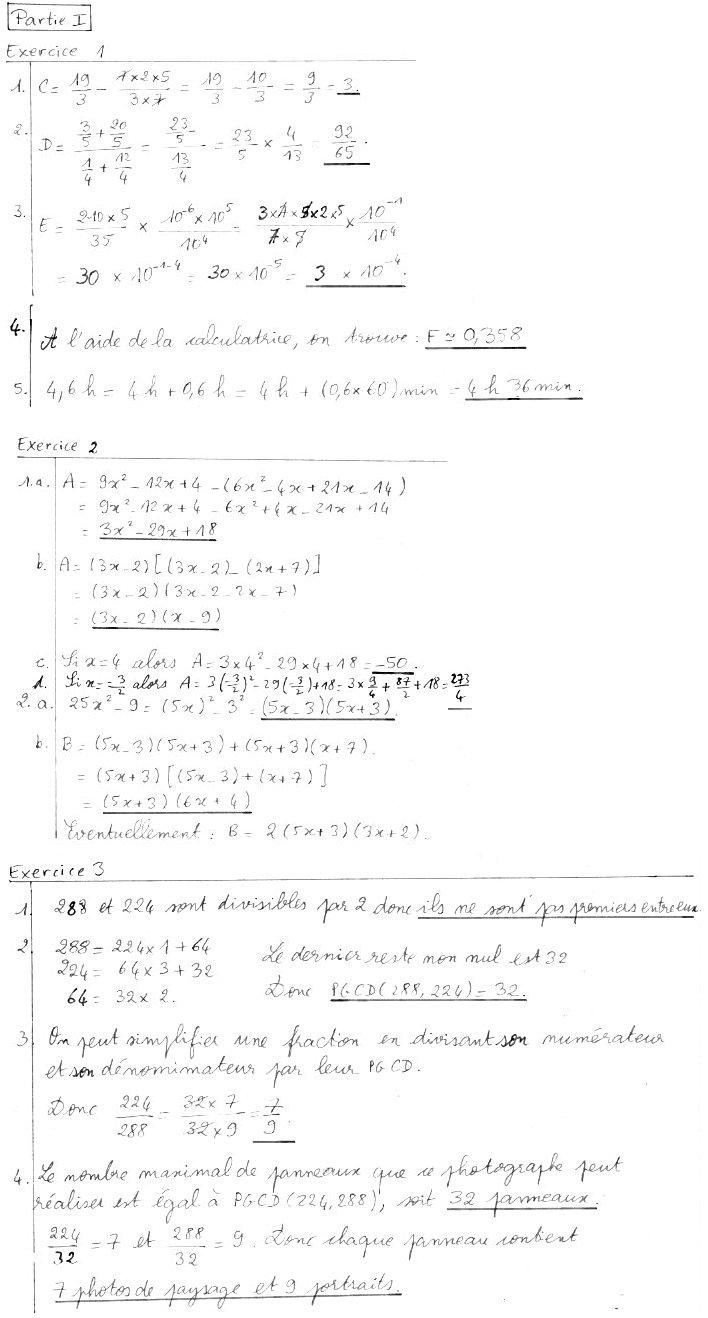 Revisions Exemples De Brevets Blancs En Mathematiques En Milieu D Annee College Jean Boucheron