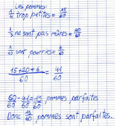 donne l écriture décimale de chaque fraction